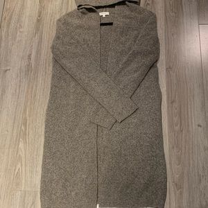 hooded community cardigan with pockets on the side